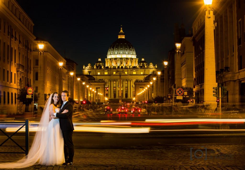 Plenerowa sesja ślubna wRzymie.